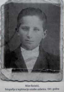 Милан Басташић фотографиjа из легитимациjе усташке узданице 1941. година