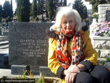 Слободанка Тановић одржава Бошков и Анђин гроб