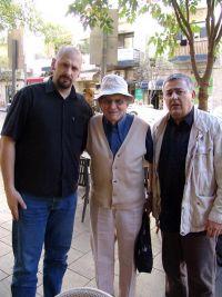 Danijel Simić, Zvi Loker, Dušan Bastašić, Јерусалим, 30. новембар 2010.