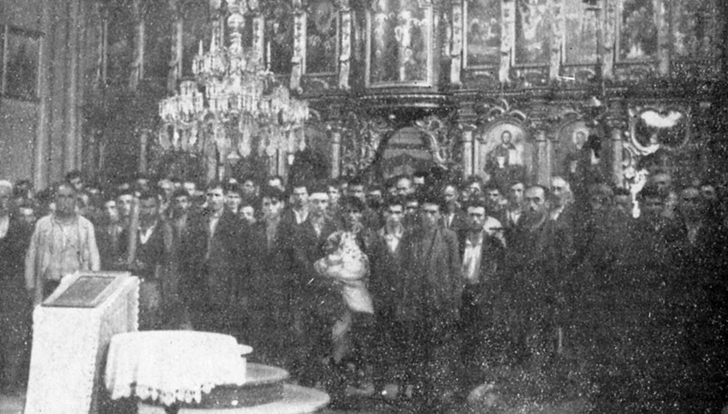 ГЛИНА - Слика приjе злочина - Стара Глинска црква, у коjу су почетком аугуста 1941, довабљени (обманути обећањем о приjелазу на католичанство) те потом поклани
