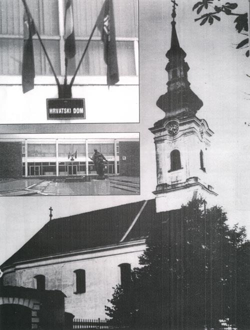 Хрватски дом на темељима Глинске цркве