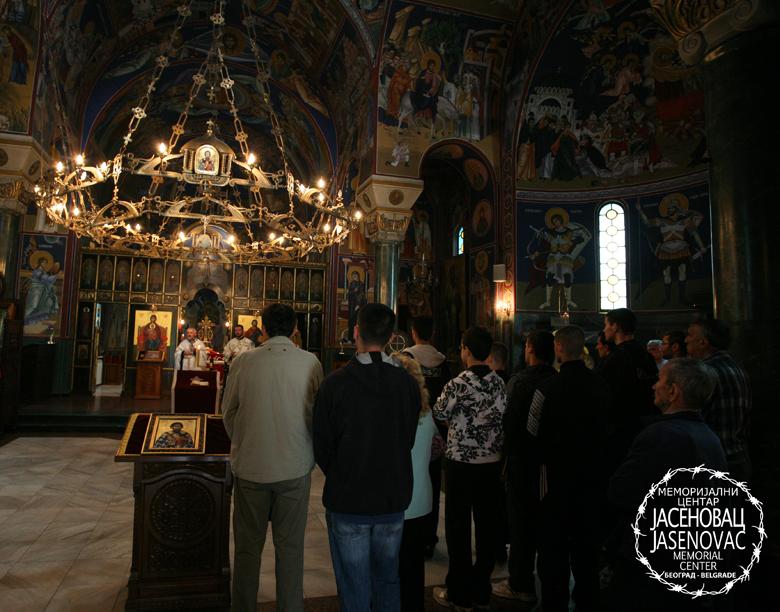 Парастос у Храму Светог Саве на Врачару.