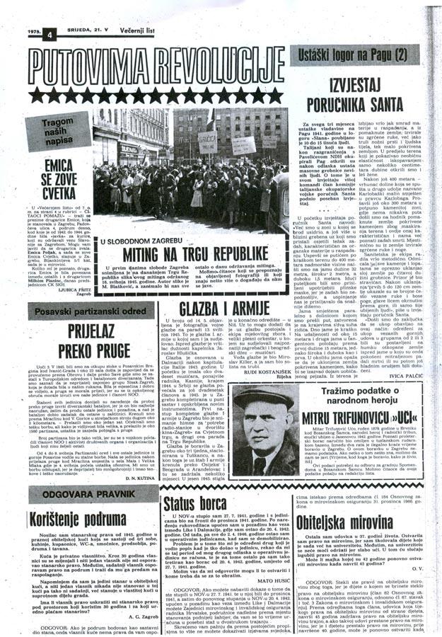 Večernji list 21.05.1975. | Večenji list 21.05.1975
