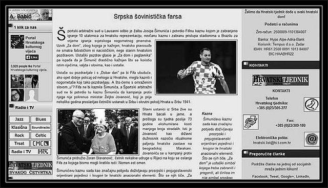 Говор мржње у Хрватском тjеднику (<strong><span>SCREENSHOT</span></strong>)