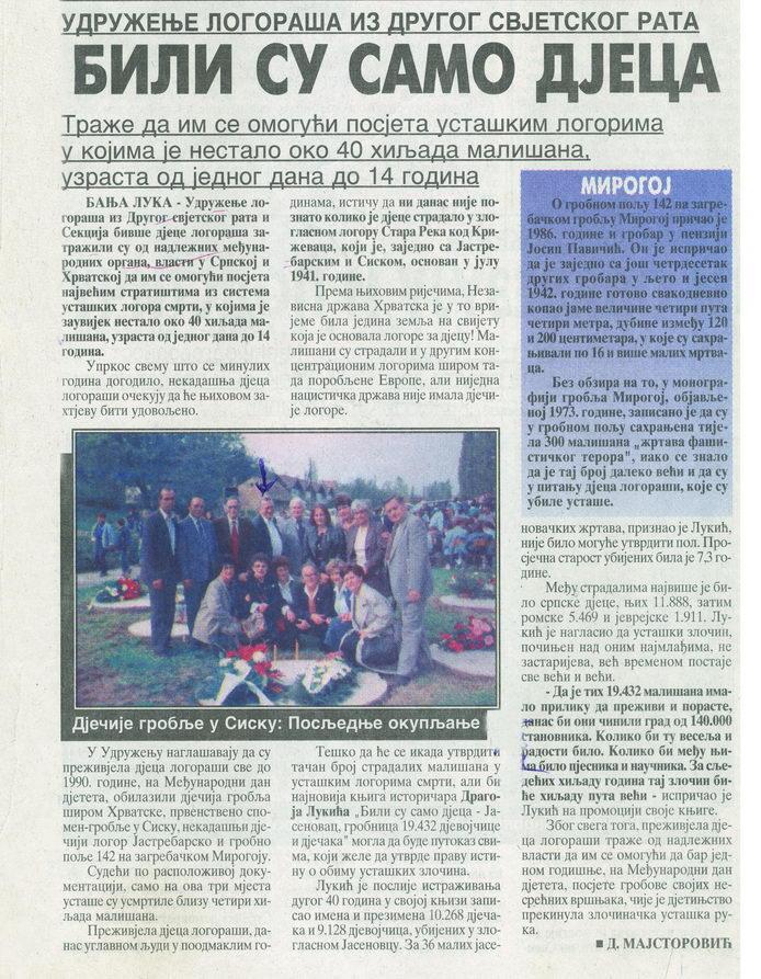 Glas Srpske, Banjaluka, srijeda 6. oktobar 2004