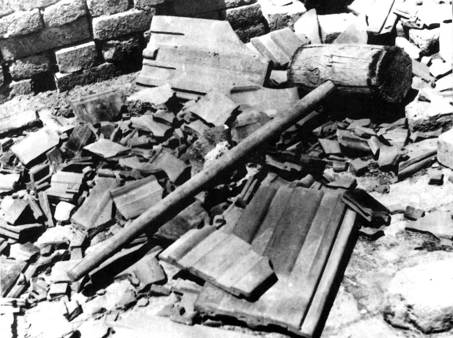 Malj, sredstvo za likvidaciju, logor III Ciglana, Jasenovac, maj 1945.
