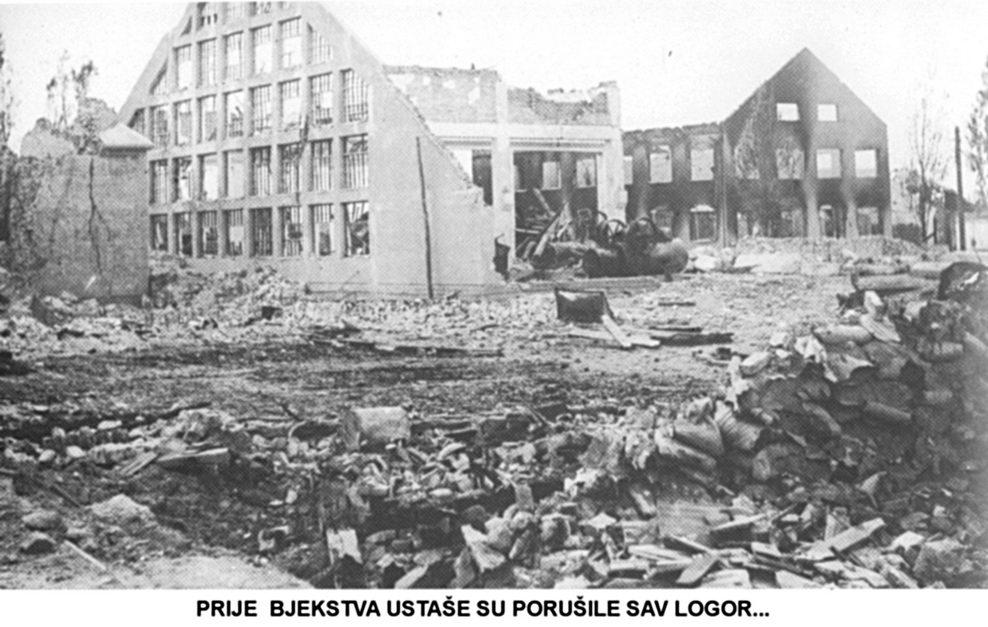 Prije bjekstva ustaše su porušile sav logor