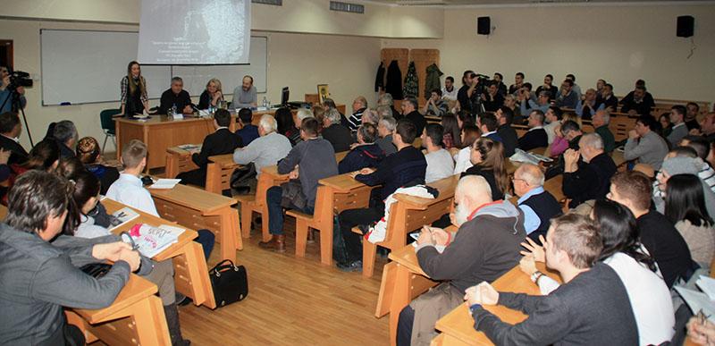 Prepuna slušaonica Fakulteta političkih nauka u Beogradu