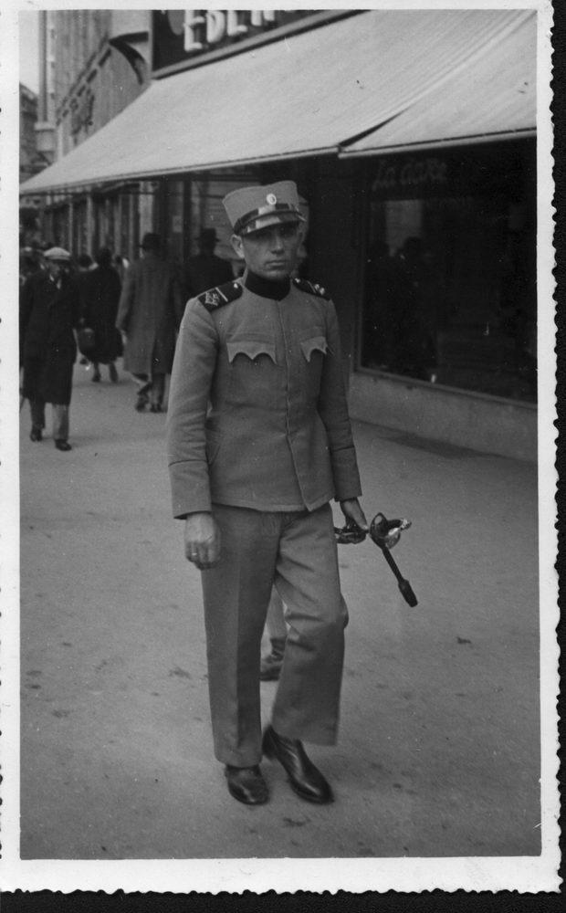 Адам Вурунић, наредник-водник Краљевске војске, Загреб, Илица, 13. октобар 1935.