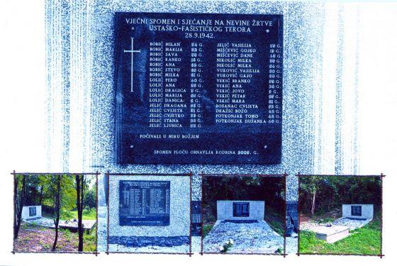 Spomenik žrtvama strijeljanja u Kiselovom jarku, obnovljen 2009. godine