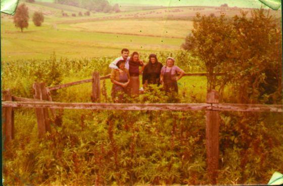 Tradlerova djetelina - mjesto strijeljanja. Cvijeta Dimić (rođena Grba), Slavko Gajić, Slavkova sestra, majka i Ljuba Radaković