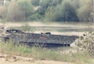 Uništena amfibija hrvatske vojske