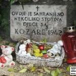 Споменик српској дјеци са Козаре на загребачком гробљу Мирогој