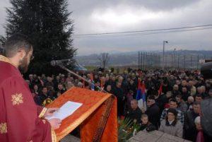 Parastos u Drakuliću, 01. februara 2015. Foto: D. Borković