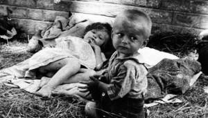 Дјечји логор у Стаклани, Сисак, 1942. Фото: ЈУСП Јасеновац