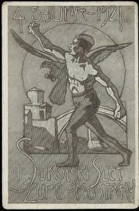 Плакат - Соколски слет у Мостару