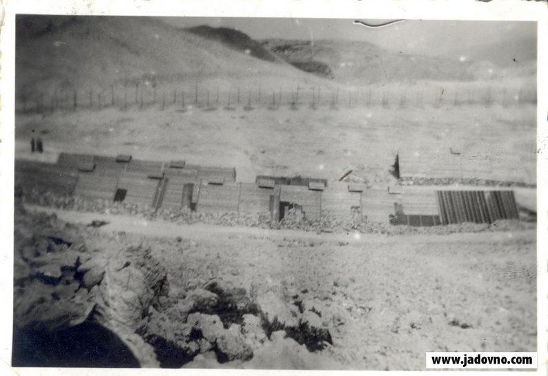 Почетак градње дрвених барака у Слани у липњу 1941.