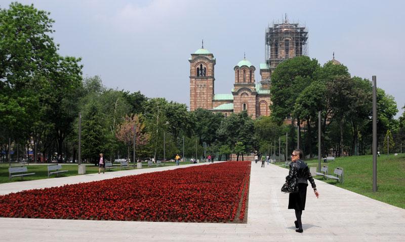 Статуа би могла да се нађе у Ташмаjданском парку
