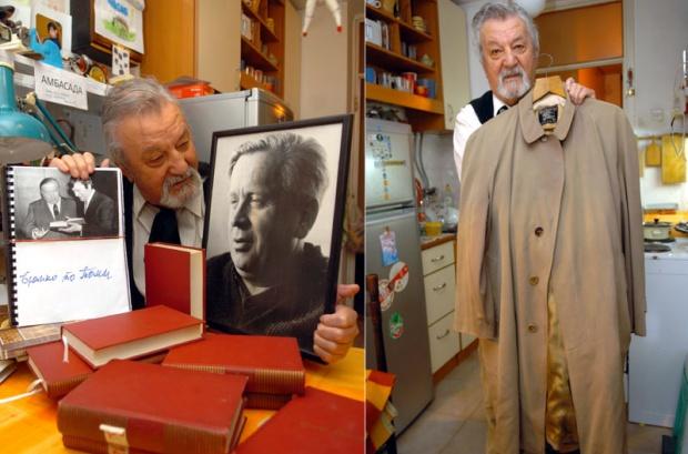 Toma Kuruzović u svom domu čuva mantil i lične stvari, kao i oproštajno pismo Branka Ćopića / Foto: N. SKENDERIJA