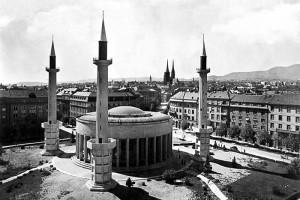 Џамија у центру Загреба 1941.