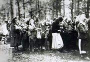 ТРАНСПОРТ ЖЕНА И ДЕЦЕ ИЗ ПОТКОЗАРЈА У УСТАШКЕ ЛОГОРЕ