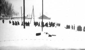 Бацање жртава под ледену кору Дунава