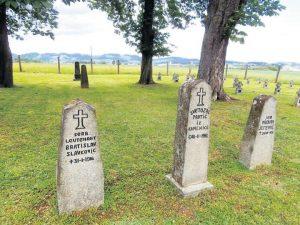 Једноставни камени споменици чувају успомену на страдалнике логораша из Првог светског рата Фото Ј. Чалија