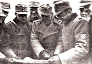 Марко Месић (у средини) код Стаљинграда