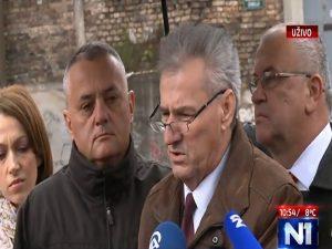 Obilježavanje stradanje vojnika JNA u Dobrovoljačkoj (Foto: Screenshot/N1)