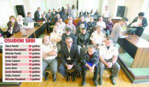 ПРЕКИ СУД Жупанијски суд у Осјеку водио скандалозан процес против десеторице Срба из Трпиње