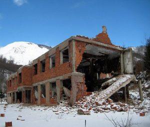 Рушевине некадашње граничне карауле Кошаре