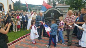 Поводом Видовдана данас је у Кнежеву,  у порти цркве Покрова пресвете Богородице откривена и освештана спомен - плоча са именима  74 солунских добровољаца са подручија ове општине