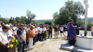 Служењем парастоса и полагањем вијенаца код спомен обиљежја у добојском насељу Вила данас су обиљежене 24 године од петровданске битке за одбрану града