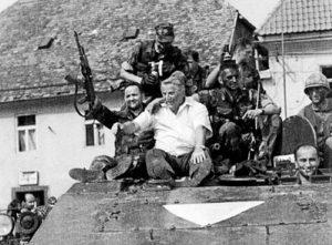 Хрватски војници у Сиску П-портал