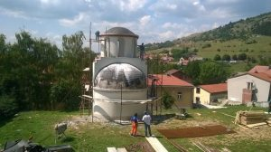Радови на спомен-костурници у Ливну