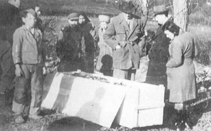Eксхумaциje жртaвa у дeцeмбру 1947. Гoдинe