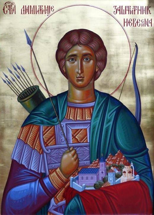 Ikona Svetog Dimitrija iz saborne crkve u Nevesinju
