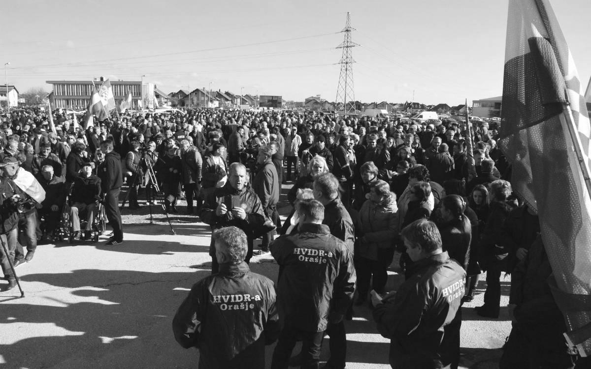 Skup podrške uhapšenim pripadnicima HVO-a – Orašje Foto: Ivica Galović/PIXSELL