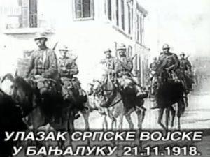Улазак српске војске у Бањалуку 21.11.1918. год Фото: РТРС