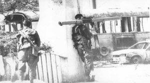 Ратна дејства у Сарајеву 1992. године (Фото Танјуг)