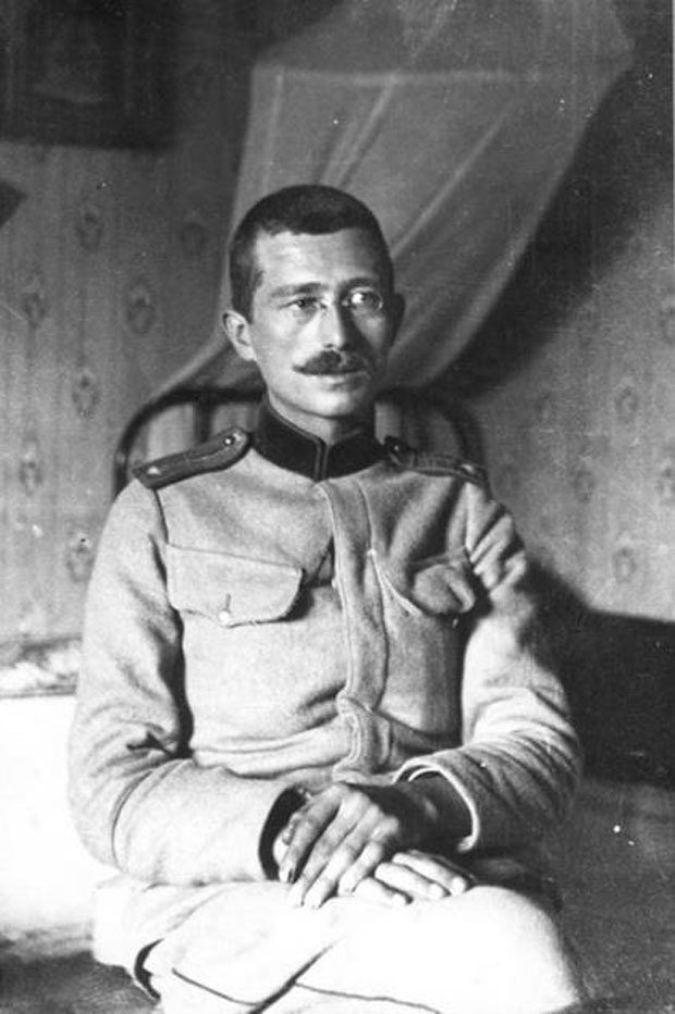 Дража као потпоручник на Солунском фронту