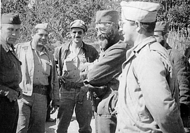 Дража са америчким официрима 1944. године