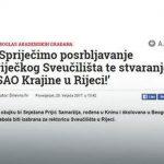 Novi antisrpski skandal u Hrvatskoj (Foto:Dnevno.hr / screenshot)