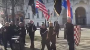 Скуп неонациста у Загребу (Фото Јутјуб)