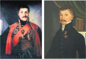 Karađorđe Petrović, vožd Prvog srpskog ustanka i Dimitrije Davidović, tvorac prvog ustava (Fotografije Vikipedija)