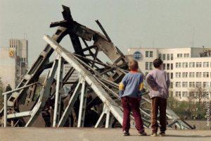 Срушени мост у Новом Саду