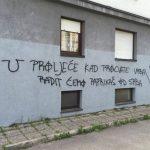 У Загребу поново осванули узнемирујући графити Фото: nezavisne novine