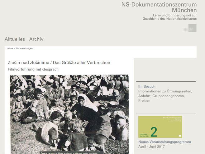 """Документарни филм """"Злочин над злочинима"""" у Њемачкој"""