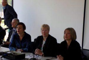 """Француски и њемачки амбасадори у БиХ Клер Бодони и Кристијана Хоман отворили су у Сарајеву међународни историјски семинар под називом """"Холокауст као полазна тачка""""."""