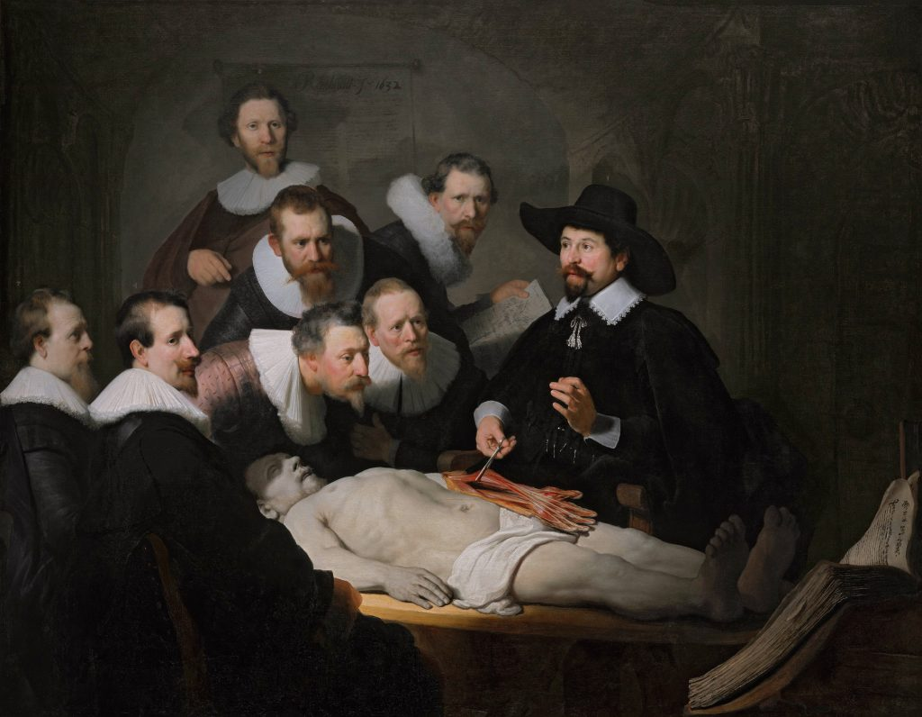 The anatomy lesson of Dr Nicolaes Tulp: Rembrandt 1632